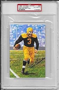 Tony Canadeo Signed Goal Line Art Card~Pro Football Hof Auto~PSA/DNA~Gb Packers