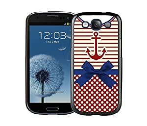 Graceful Samsung Galaxy S3 Case Soft Silicone TPU Diy Anchor Chevron Retro Vintage Tribal Nebula Pattern Black Phone Cover
