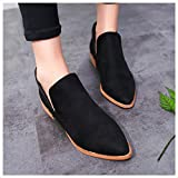 vermers Clearance Fashion Shoes for Women - Ladies Martin Boots with Pointed Toes and Bare Heels High Heel Boots(US:8, Black)
