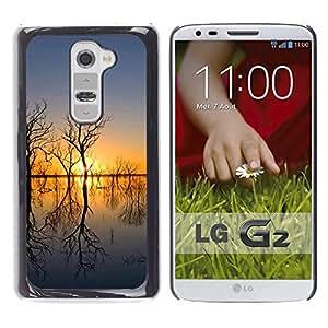 LECELL -- Funda protectora / Cubierta / Piel For LG G2 D800 D802 D802TA D803 VS980 LS980 -- Sunset Beautiful Nature 51 --