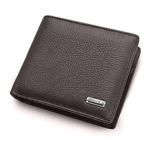 Black Friday Clearance Sale & Deals Day 2018-Leather Wallet Men Coin Purse Wallets Leather With Coin Pocket mens Wallets for Crash (Coffee)