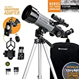 Celestron Travel Scope 70 DX Portable Telescope with Smartphone Adapter and Blutooth Shutter Release