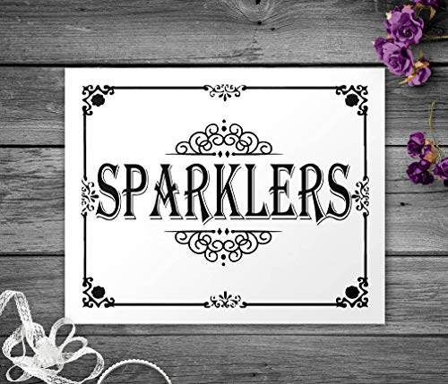 Barnett Duncan Print Sparklers Sign Wedding Canvas Sparklers Sign Graduation Sparklers Fourth of July 4th of July Sign Print Black and White Wedding Canvas -