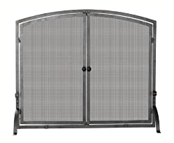 Uniflame Single Panel Iron Fireplace Screen with Doors by Blue Rhino Global Sourcing Inc