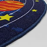 HUAHOO Kids Round Rug Solar System Learning Area