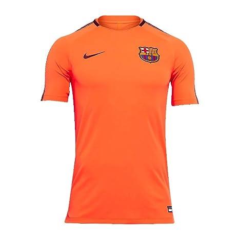 46ad040fd Amazon.com   NIKE Barcelona Squad Training Top 2017 2018 - Orange ...