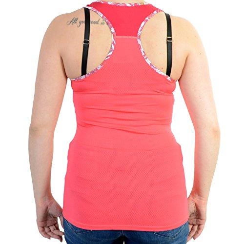 Camiseta Desigual Straps Rouge