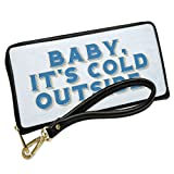 Wallet Clutch Baby It's cold outside, Merry Christmas with Removable Wristlet Strap Neonblond