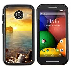 Caucho caso de Shell duro de la cubierta de accesorios de protección BY RAYDREAMMM - Motorola Moto E - Oro Sung Mar