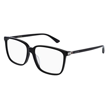 110bc4a541 Image Unavailable. Image not available for. Color  Gucci GG0019OA Eyeglasses  001 Black ...
