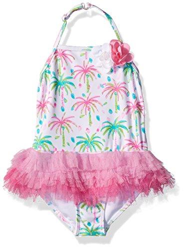 Kate Mack Toddler Girls' Island Hopping Skirted Tank Swimsuit, Multi, 3T