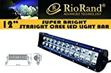 RioRand® 72w Light bar LED Cree spot beam 12
