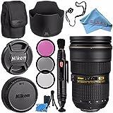 Nikon AF-S NIKKOR 24-70mm f/2.8G ED Lens 2164 + 77mm 3 Piece Filter Kit + Lens Pen Cleaner + Fibercloth + Lens Capkeeper + Lens Cleaning Kit Bundle