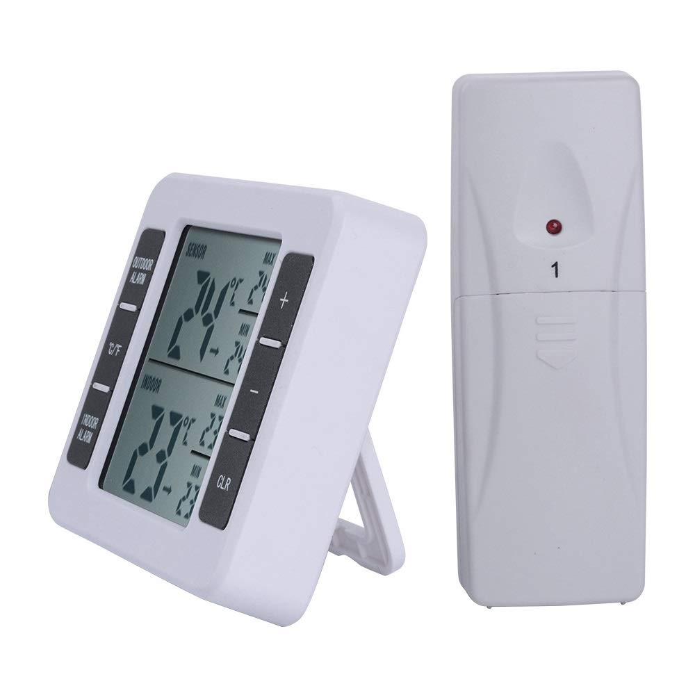 Nuanxingjiafang Wireless Indoor and Outdoor Thermometer, Electronic Wireless, Low Temperature Alarm, Refrigerator Thermometer, Suitable for Cold Storage, Refrigerator, Garden Well Made by Nuanxingjiafang