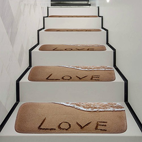 - Wffo 1Set StepBasic Non-Slip Coral Fleece Resistant Carpet Stair Mat (G)