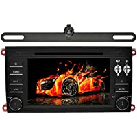YINUO Android 7.1.1 Quad Core 7 inch 2 Din Car Stereo HD Touch Screen Car Radio Receiver DVD GPS Navigation for PORSCHE cayenne 2003-2010,Free Mic 8GB Map Card and Backup Camera