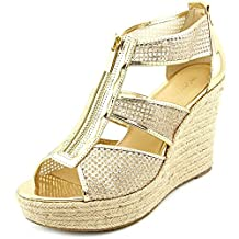 MICHAEL Michael Kors Damita Wedge Espadrille Sandals-Pale Gold