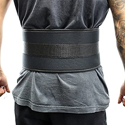 WEIGHT LIFTING BLACK BACK SUPPORT BELT