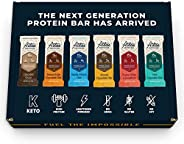 Atlas Protein Bar - Keto Friendly, Sample Pack (6-Pack) — Grass Fed Whey, High Protein, Low Sugar, Clean Ingredients, Gluten