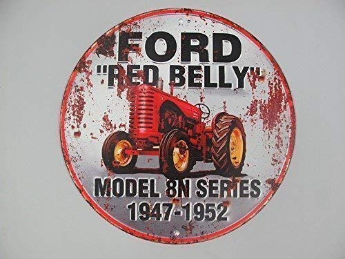 Letrero de Metal, Ford Rojo Belly, Tractor Cartel de Pared ...