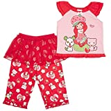 Strawberry Shortcake Girls 2 PC Pajama Set (4T) (4T, Red Print)