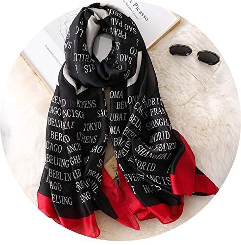 Used, Letters Scarf Girl Printing Satin Silk Scarf Women for sale  Delivered anywhere in USA