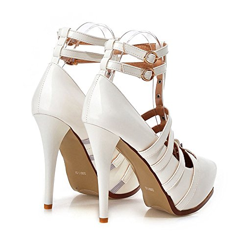 Night Thin Size Club Shoes Plus Dancing white Platform wqvxA8C