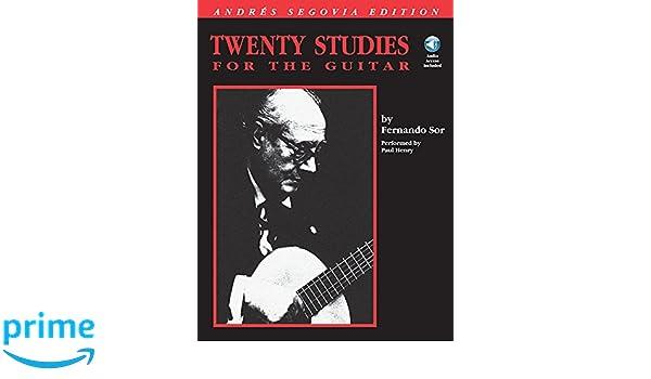 Andres Segovia - 20 Studies for the Guitar: Book/CD Pack: Amazon.es: Andres Segovia, Fernando Sor: Libros en idiomas extranjeros