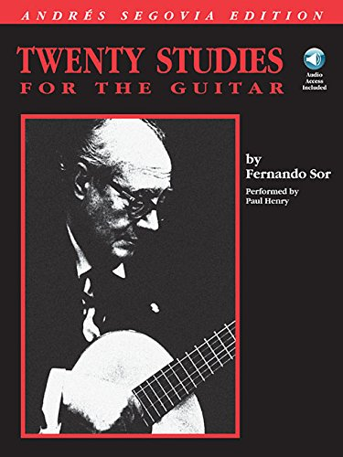 Fernando Sor Classical Guitar Book - Twenty studies for the guitar