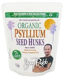 Jay Robb - Organic Psyllium Seed Husks, 48 Servings (12 oz)
