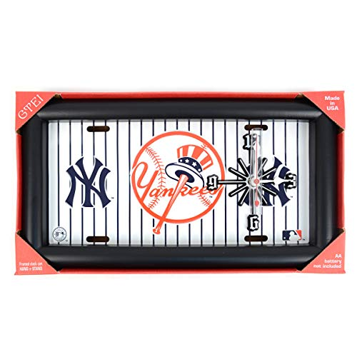 - BG MLB Baseball Major League Teams Framed License Plate Hanging Analog Wall Clock Battery Operated Fan Collectibles Yankees Red Sox & More