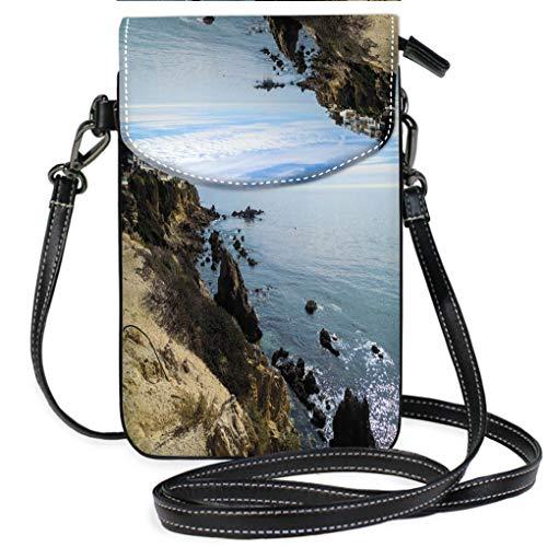 (Custom Trendy Shoulder Crossbody Bag New Port Beach California United States Stock Image Multifunction Travel Crossbody Purse Wallet)