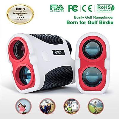 Bozily Golf Rangefinder, 6X Laser Range Finder 900 Yards, Flag-Lock, Slope Tech, 4 Scan Mode, Linear & Vertical Distance, Angle & Speed Measurement, Fog Resistant - Tournament Legal Golf Rangefinder by Bozily