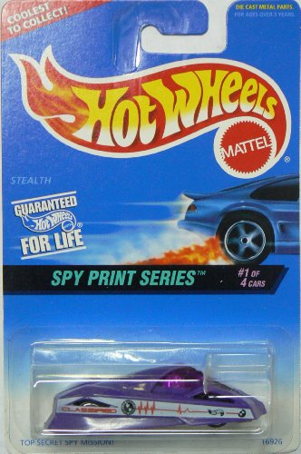 Hot Wheels Spy Print Series Stealth #553 on Coolest to Collect Card (553 Series)