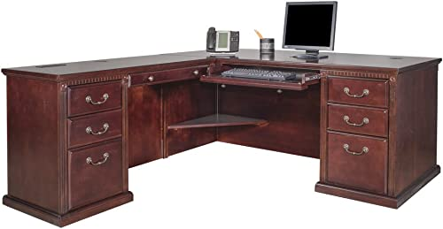 Martin Furniture Huntington Club Left L-Shaped Desk Return Combo