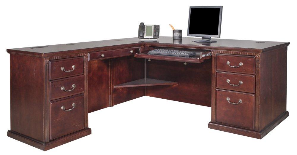 Martin Furniture Huntington Club Left L-Shaped Desk Return Combo