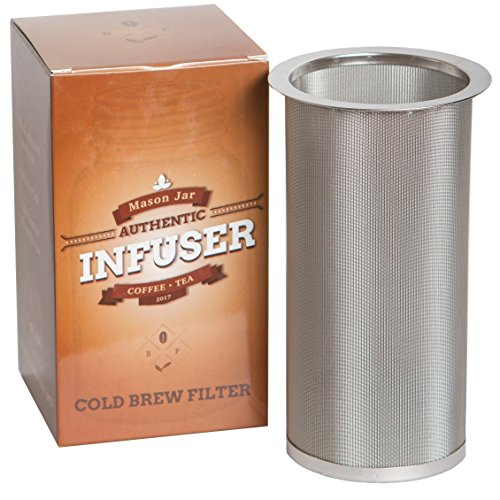Mason Jar Infuser   Cold Brew Coffee Maker   Filter fits Wide-Mouth Mason Jars   by Bever Products