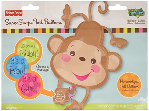Anagram International Fisher Price Baby Monkey Balloon, 40