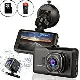 Ampulla Sentry HD Dash Cam Front and Rear Camera with Full HD1080 170 Degree Wide Angle (Included 16GB Micro SD Card) (Electronics)