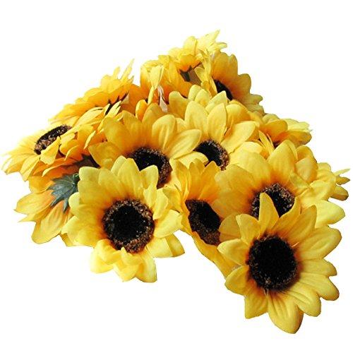 Colorfulife Artificial Silk Sunflower Head 2.8