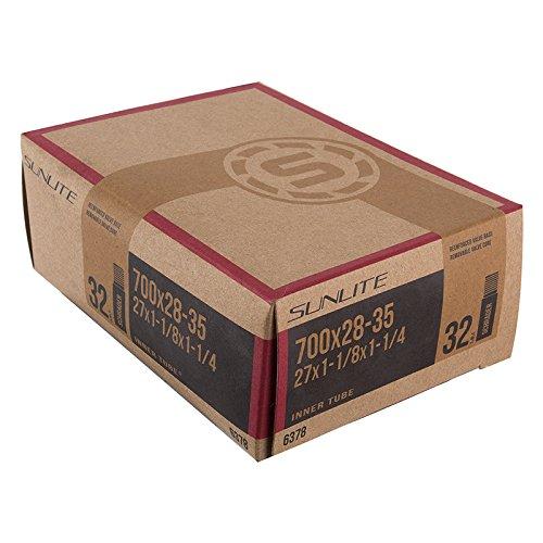 Sunlite Standard Schrader Valve Tubes, 700 x 28-35  / 32mm Valve, Black