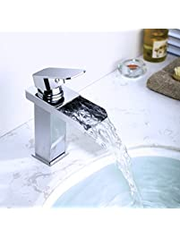 bathroom sink faucet sus 304 stainless steel mordem waterfall spout basin mixer taps