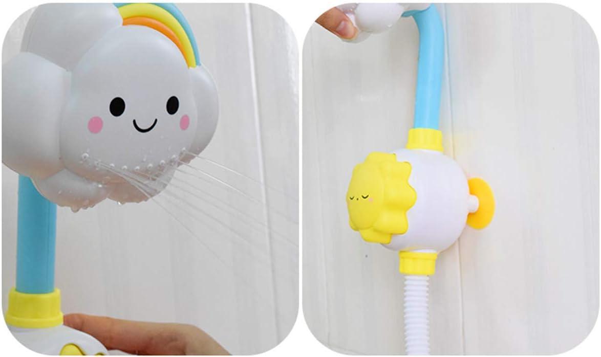 Chennie Nube Arco Iris Bebé Ducha Baño Juguete Niños Niño Bañera Agua Pulverizada Baño Juguete Plástico Blanco