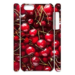Cell phone 3D Bumper Plastic Case Of Cherry For iPhone 5C