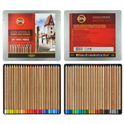 Koh-i-noor Gioconda - 48 Soft Pastel Pencils. 8829
