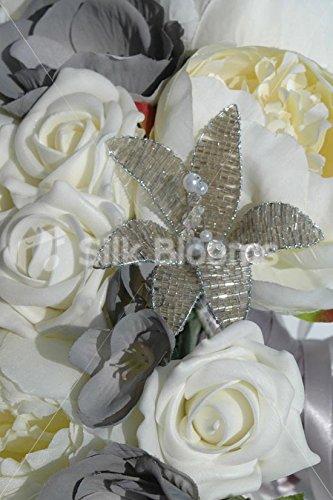 Ivory-Grey-Teardrop-Bridal-Bouquet-w-Roses-Peonies-Anemones
