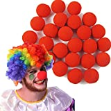 Spevert 100pcs Sponge Foam Clown Magic Red Nose Circus for Party Halloween Costume Christmas Wedding