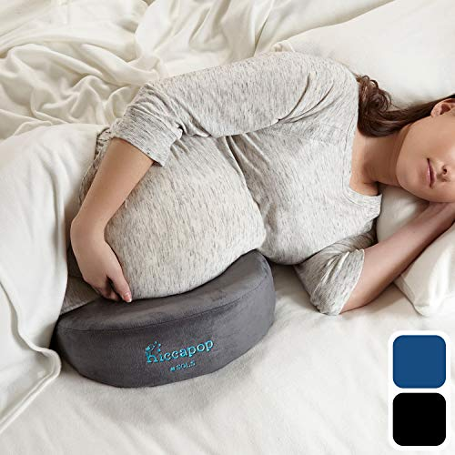 hiccapop Pregnancy Pillow Wedge for Maternity | Memory Foam Maternity Pillows Support Body, Belly, Back, Knees -
