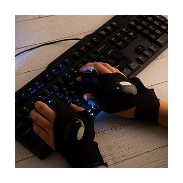 51chuQeYlWL LUTER 1 Paar LED Taschenlampen Handschuhe Angel Handschuhe und Schraubendreher Gadget Tool zur Reparatur von Arbeiten im…