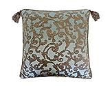 Austin Horn Classics Miraloma Euro Sham, 26'' x 26'', Teal/Bronze